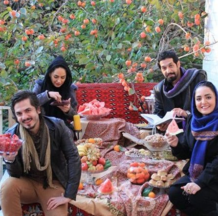 Iranian Youths celebrating Yalda