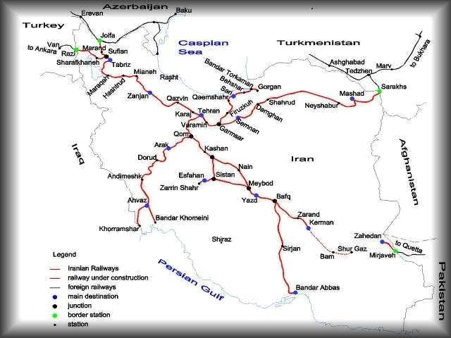 Iran Travel Map Iran Driving Directions Travel Tips Iran